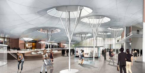 Innenperspektive Plaza:   von Achtergarde + Welzel Architektur + Interior Design