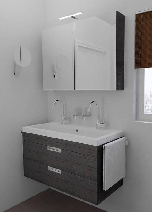 Kleine badkamer ontwerpen by sani bouw homify - Kleine betegelde badkamer ...