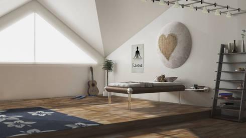 Teen MESO: modern Bedroom by Levitas Design