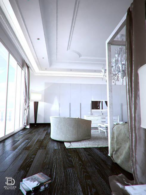 Camera da letto di 3d render beyond homify for Camera letto 3d