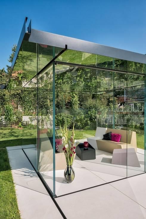 Design Pavillon aus Glas : moderner Wintergarten von Glas Marte