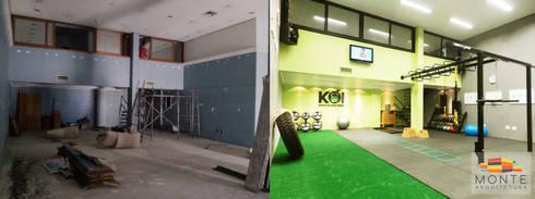 Antes e depois do projeto: Espaços comerciais  por Monte Arquitetura