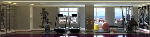 Espaço Fitness: Fitness  por Monte Arquitetura