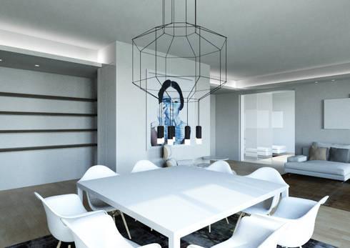 Milano 2 – Residenza Orione: Soggiorno in stile in stile Moderno di Architetto ANTONIO ZARDONI