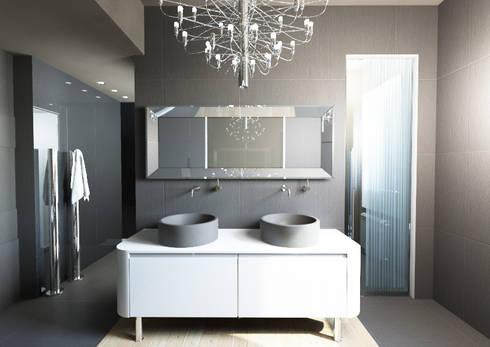 Milano 2 – Residenza Orione: Bagno in stile in stile Moderno di Architetto ANTONIO ZARDONI