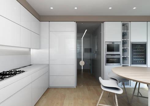 Milano 2 – Residenza Orione: Cucina in stile in stile Moderno di Architetto ANTONIO ZARDONI