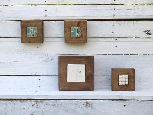 Murales de cer mica y madera de l piz de porcelana homify - Murales de madera ...