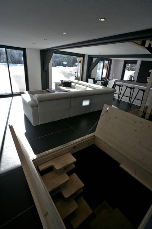 Projekty,  Salon zaprojektowane przez Chevallier Architectes