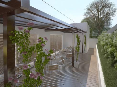 Área de Lazer para um Condomínio Residencial: Piscinas modernas por Eliegi Ambrosi Arquitetura e Design de Interiores