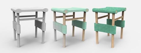 plural papers stool by sarah aug homify. Black Bedroom Furniture Sets. Home Design Ideas