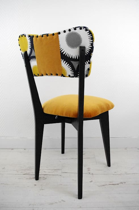 Chaise vintage jaune moutarde par l 39 abracadabroc homify for Chaise jaune moutarde