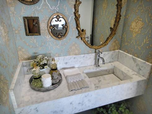 Lavabo: Banheiros clássicos por Gabriela Herde Arquitetura & Design