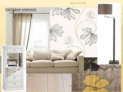 Гостевая комната:  в . Автор – Мастерская дизайна ЭГО