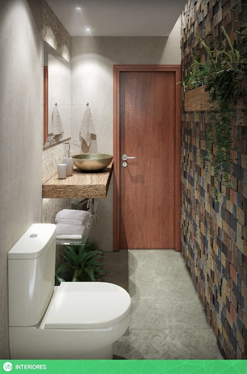 tropical Bathroom by studio vtx