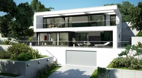 Bauhaus Stil hausentwurf villa im bauhausstil by okal haus gmbh homify