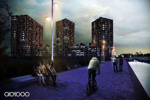 Mambakkam Residential Complex. Chennai, India:  de estilo  de Abiboo