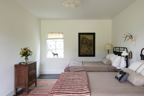 River Ranch Residence: country Bedroom by Hugh Jefferson Randolph Architects