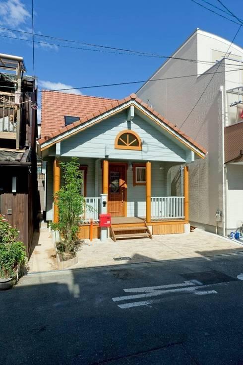 Blockhaus Minimal Japan Lückenbau:  Häuser von Finnscania Blockhausfabrik