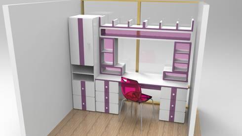 escritorio infantil :  de estilo  por Armatoste studio