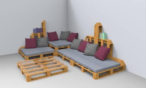 sala de pallets:  de estilo  por Armatoste studio
