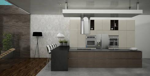 Cocinas Modernas: Cocinas de estilo moderno por Citlali Villarreal Interiorismo & Diseño