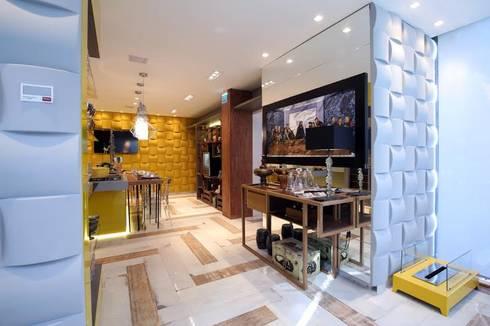 A Cozinha Dele: Cozinhas modernas por QueirozSoares Arquitetura e Design de Interiores