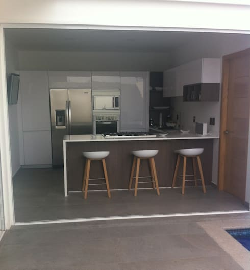 minimalistic kitchen by citlali villarreal interiorismo diseo