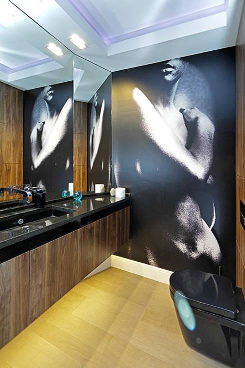 Łazienka z fototapetą: styl , w kategorii Łazienka zaprojektowany przez RED design