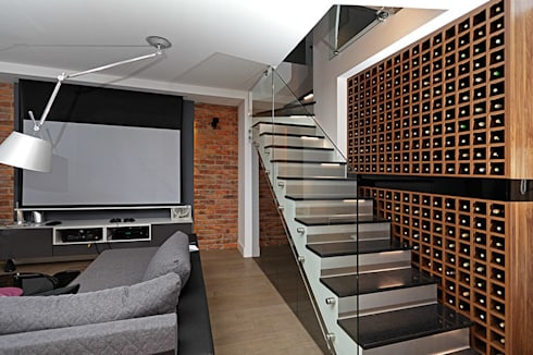 schody: styl , w kategorii Korytarz, przedpokój zaprojektowany przez RED design