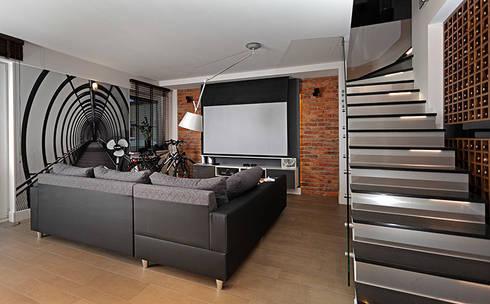strefa relaksu: styl , w kategorii Salon zaprojektowany przez RED design
