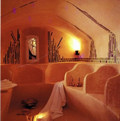 LE HAMMAM : Salle de bains de style  par cecile Aubert architecte dplg