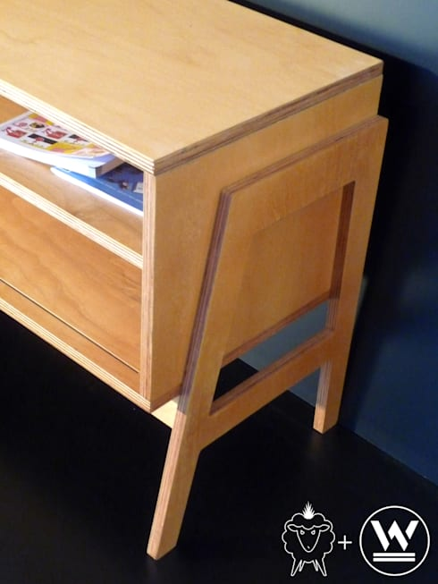 Mueble bajo Louis: Livings de estilo escandinavo por CASA FAD