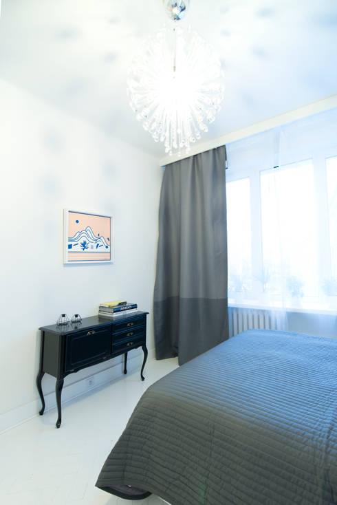 38 m, Plac Zbawiciela, Wwa: styl , w kategorii Sypialnia zaprojektowany przez dziurdziaprojekt