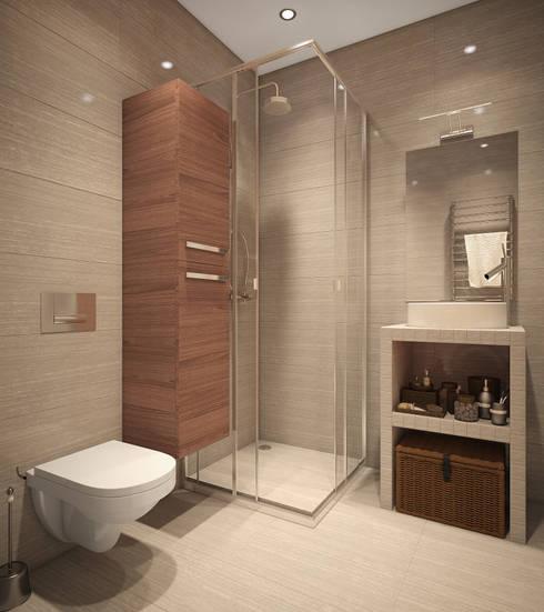 Минимализм для двоих: Ванная комната в . Автор – «Студия 3.14»