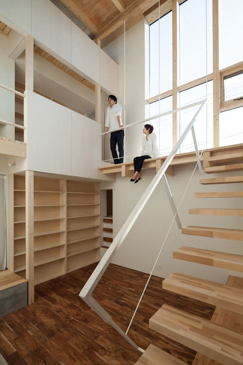 一級建築士事務所 Atelier Casa의  복도 & 현관