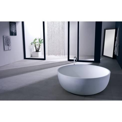 freistehende mineralguss badewanne von ullstein living von. Black Bedroom Furniture Sets. Home Design Ideas