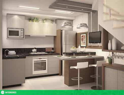 vista 01: Cozinhas modernas por studio vtx