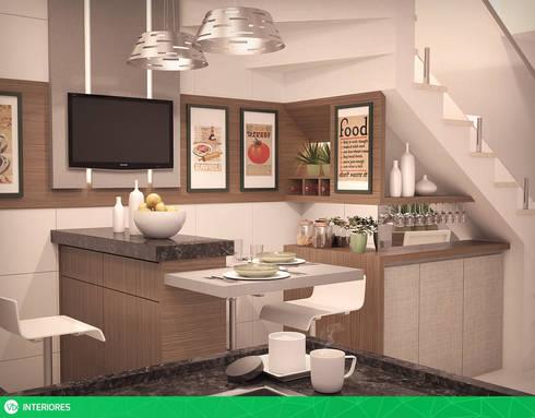 vista o2: Cozinhas modernas por studio vtx