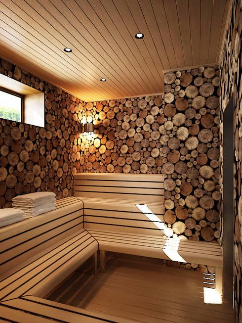 Дом в Москве, 600 кв.м: Спа в . Автор – Валерия Лазарева - архитектор, дизайнер интерьера