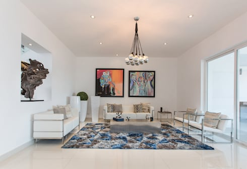 CASA RR8: Salas de estilo moderno por Grupo Arsciniest