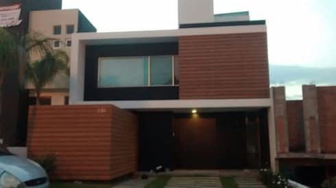 Fachadas de madera WPC Innover: Casas de estilo minimalista por Grupo Boes