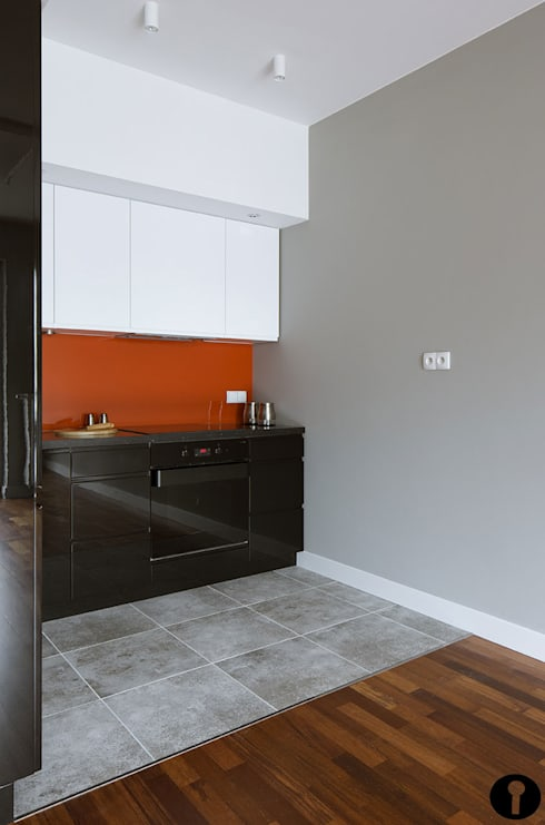 Pomarańczowe szaleństwo: styl , w kategorii Kuchnia zaprojektowany przez Urządzamy pod klucz