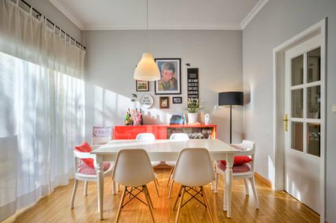Casa Oeiras : Salas de jantar ecléticas por Santiago | Interior Design Studio