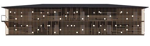 立面図: KAWAZOE-ARCHITECTSが手掛けた家です。