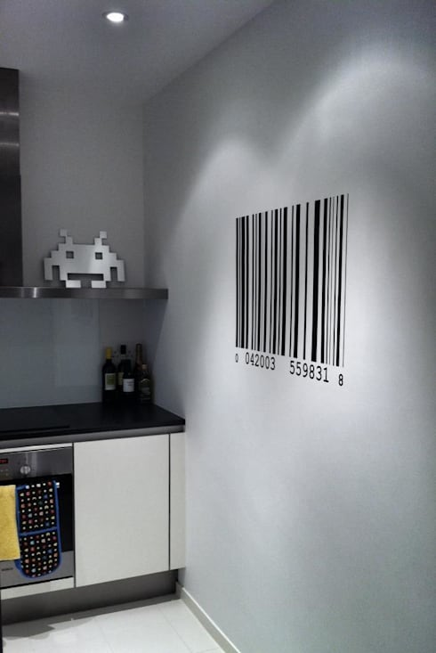 Barcode Wall Sticker:  Kitchen by The Binary Box