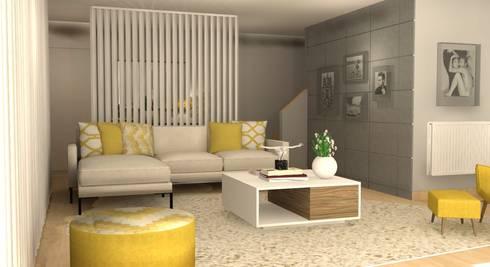 CASA BENFICA: Salas de estar ecléticas por Santiago | Interior Design Studio