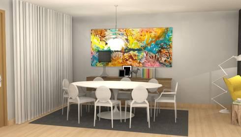 CASA BENFICA: Salas de jantar modernas por Santiago | Interior Design Studio