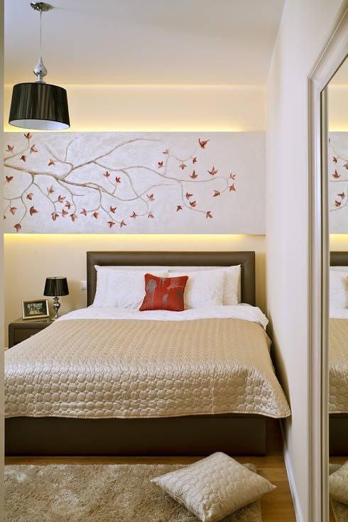 MIESZKANIE 54 M2: styl , w kategorii Sypialnia zaprojektowany przez KRAMKOWSKA|PRACOWNIA WNĘTRZ