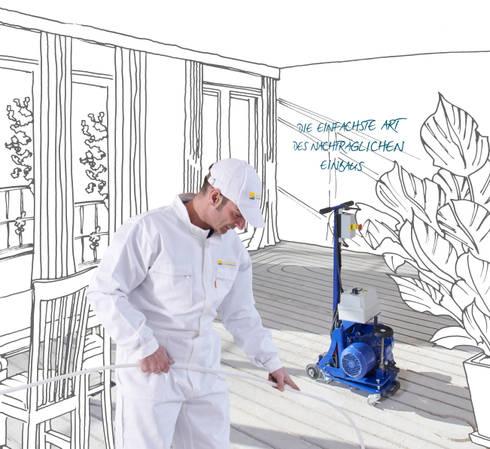 so einfach kann der nachtr gliche einbau einer fu bodenheizung sein von intofloor. Black Bedroom Furniture Sets. Home Design Ideas