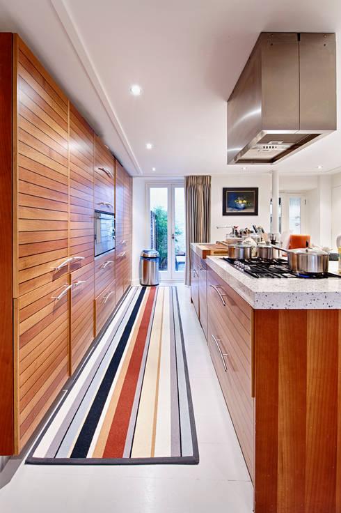 Fabulous striped runner:  Kitchen by Warp & Weft (uk) Ltd